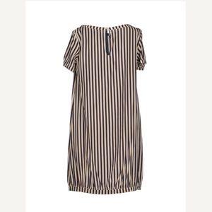Attic and Barn Dresses - Attic and Barn striped silk shift dress size Small